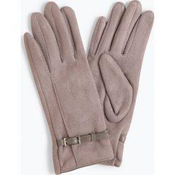 Melkonian - Rękawiczki damskie, szary. Szare rękawiczki damskie Melkonian, w paski, ze skóry. Za 89,95 zł.