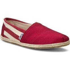 Tomsy damskie: Espadryle TOMS – Classic 10005421 Red Stripe