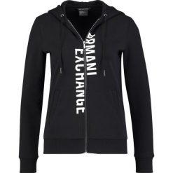 Armani Exchange Bluza rozpinana black. Czarne bluzy rozpinane damskie marki Armani Exchange, l, z materiału, z kapturem. W wyprzedaży za 426,75 zł.