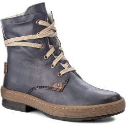 Botki RIEKER - Z6720-14 Blau. Czarne buty zimowe damskie marki Rieker, z materiału. W wyprzedaży za 199,00 zł.