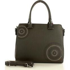MONNARI Designerska torebka kuferek  szary. Szare kuferki damskie Monnari, w paski, ze skóry ekologicznej, na ramię. Za 169,00 zł.
