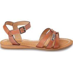 Rzymianki damskie: Płaskie sandały ze skóry