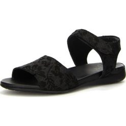 """Rzymianki damskie: Skórzane sandały """"Jaeh"""" w kolorze czarnym"""