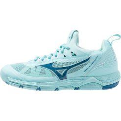 Mizuno WAVE LUMINOUS Obuwie do siatkówki aqua splash/blue sapphire. Niebieskie buty do fitnessu damskie Mizuno, z gumy, mizuno wave. Za 509,00 zł.