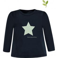 Koszulka w kolorze czarnym. Czarne bluzki dziewczęce bawełniane bellybutton, z nadrukiem, z okrągłym kołnierzem, z długim rękawem. W wyprzedaży za 32,95 zł.
