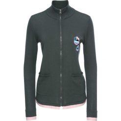 Sweter rozpinany 2 w 1, długi rękaw bonprix antracytowo-jasnoróżowy. Szare kardigany damskie marki bonprix. Za 34,99 zł.