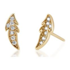 Biżuteria i zegarki: RABAT Kolczyki Złote – złoto żółte 585, Cyrkonia