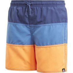 Kąpielówki męskie: Adidas Kąpielówki juniorskie YB CB SH niebiesko-pomarańczowe r. 176 cm (CV5212)