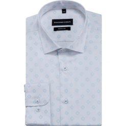 Koszula SIMONE KDBR000423. Niebieskie koszule męskie na spinki marki bonprix, m, z nadrukiem, z klasycznym kołnierzykiem, z długim rękawem. Za 199,00 zł.