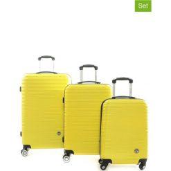 """Walizki: Walizki (3 szt.) """"Solomun"""" w kolorze żółtym"""