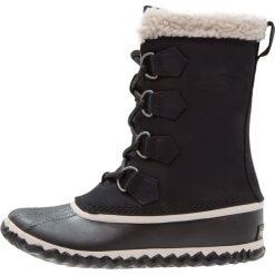Buty zimowe damskie: Sorel CARIBOU SLIM Botki sznurowane schwarz