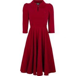 H&R London Glamourous Velvet Tea Dreams Dress Sukienka czerwony. Czerwone sukienki balowe H&R London, na imprezę, xl, z nadrukiem, proste. Za 304,90 zł.