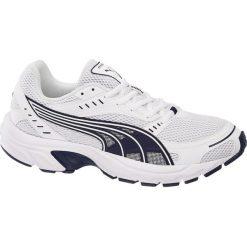 Sportowe buty męskie Puma Axis Puma białe. Białe buty do biegania męskie marki Puma, z materiału. Za 239,90 zł.