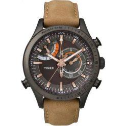 Zegarek Timex Męski TW2P72500 IQ Perfect Date brązowy. Brązowe zegarki męskie Timex. Za 544,99 zł.