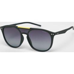 Polaroid - Okulary 233621.DL599WJ. Brązowe okulary przeciwsłoneczne męskie aviatory Polaroid, z materiału, prostokątne. Za 339,90 zł.