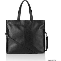 Skórzana pojemna torebka worek czarna Jeanne. Czarne torebki worki Pakamera. Za 422,00 zł.
