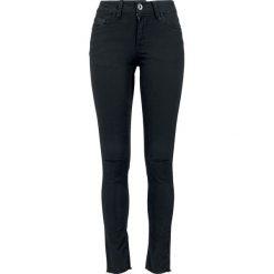 Jeansy damskie: Urban Classics Ladies Cut Knee Pants Jeansy damskie czarny