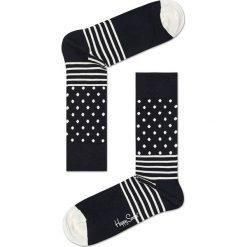 Happy Socks - Skarpety Black & White (4-pack). Białe skarpetki męskie Happy Socks, z bawełny. W wyprzedaży za 89,90 zł.