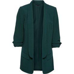 Długi żakiet z drapowanymi rękawami bonprix głęboki zielony. Brązowe marynarki i żakiety damskie marki bonprix. Za 149,99 zł.