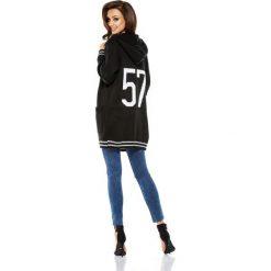 Bolerka i narzutki damskie: Luźny casualowy sweter narzutka czarna