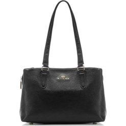 Torebka damska 87-4E-205-1. Czarne torebki klasyczne damskie Wittchen, w paski. Za 479,00 zł.