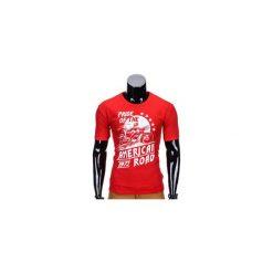 T-shirty męskie z nadrukiem: T-SHIRT MĘSKI Z NADRUKIEM S753 – CZERWONY