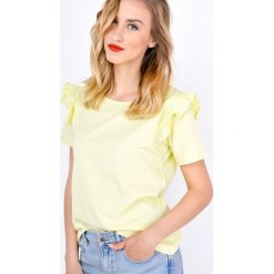 Bluzki asymetryczne: Bluzeczka z falbankami na rękawach