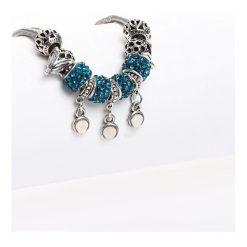 Biżuteria i zegarki damskie: Srebrno-Niebieska Bransoletka I Run Away