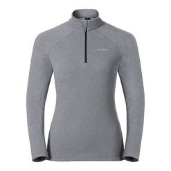 Odlo Bluza damska Midlayer 1/2 zip Snowbird szara r. M (222001). Czarne bluzy sportowe damskie marki DOMYOS, z elastanu. Za 183,43 zł.