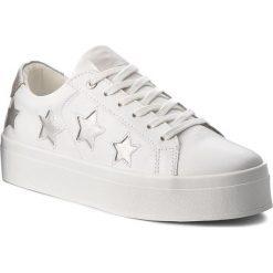 Sneakersy GUESS - FLFHS3 LEA12 WHISI. Białe sneakersy damskie Guess, ze skóry ekologicznej. Za 489,00 zł.