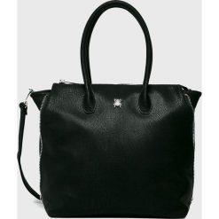 Medicine - Torebka Suffron Spice. Czarne torebki klasyczne damskie MEDICINE, w paski, z materiału, duże. Za 149,90 zł.
