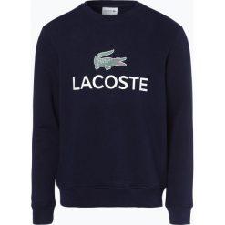 Lacoste - Męska bluza nierozpinana, niebieski. Niebieskie bejsbolówki męskie Lacoste, l, z nadrukiem. Za 449,95 zł.