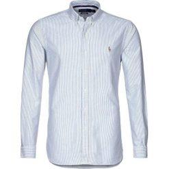 Polo Ralph Lauren SLIM FIT Koszula blue/white. Szare koszule męskie na spinki marki Polo Ralph Lauren, l, z bawełny, button down, z długim rękawem. Za 439,00 zł.