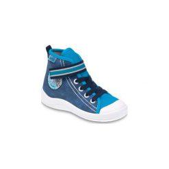 Niebieskie Tekstylne Buty Dla dzieci Befado rozmiar 27. Niebieskie buciki niemowlęce chłopięce Befado, z bawełny. Za 49,80 zł.