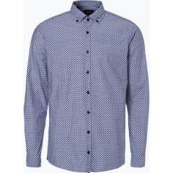 Joop - Koszula męska – Heli, niebieski. Szare koszule męskie na spinki marki JOOP!, z bawełny, z klasycznym kołnierzykiem, z długim rękawem. Za 379,95 zł.
