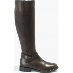 Kozaki brązowe Vita. Fioletowe buty zimowe damskie marki Badura. Za 375,99 zł.