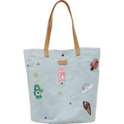 Shopper bag damskie: Shopper bag w kolorze błękitnym – 44 x 55 x 38 cm