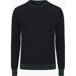 BOSS Casual - Sweter męski – Aface, zielony. Zielone swetry klasyczne męskie BOSS Casual, m, z kontrastowym kołnierzykiem. Za 649,95 zł.