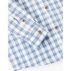 Mango Kids - Koszula dziecięca Mao2 104-164 cm. Szare koszule chłopięce z długim rękawem marki S.Oliver, l, z bawełny, z włoskim kołnierzykiem. W wyprzedaży za 45,90 zł.