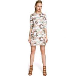 Sukienka Trapezowa o Linii A z Printem Moro Model 2. Szare sukienki dresowe marki bonprix, melanż, z kapturem, z długim rękawem, maxi. Za 119,90 zł.
