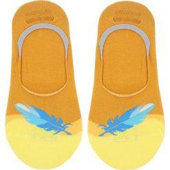 Skarpety Stopki Damskie FREAK FEET - MPIU-YEL Kolorowy Żółty. Żółte skarpetki damskie marki Freak Feet, w kolorowe wzory, z bawełny. Za 14,99 zł.