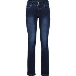 """Dżinsy """"Wyszczuplające sylwetkę"""" SLIM bonprix ciemnoniebieski nowy. Niebieskie jeansy damskie bonprix, z jeansu, z podwyższonym stanem. Za 129,99 zł."""