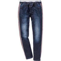 Jeansy męskie regular: Dżinsy bez zamka w talii Regular Fit Straight bonprix ciemny denim