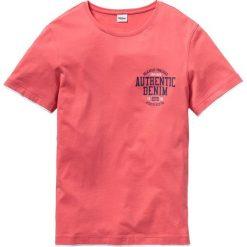 T-shirty męskie z nadrukiem: T-shirt w optyce 2 w 1 Regular Fit bonprix koralowy