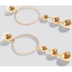 Kolczyki damskie: Trendyol Kolczyki z perłami - Gold