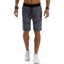 Spodenki i szorty męskie: Krótkie spodenki dresowe męskie granatowe (sx0321)