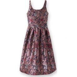 Sukienki hiszpanki: Sukienka midi z kwiecistej tkaniny żakardowej