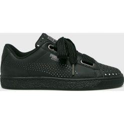 Puma - Buty Basket Heart Ath Lux. Czarne buty sportowe damskie marki Puma, z gumy. W wyprzedaży za 399,90 zł.