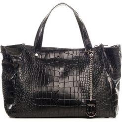 Torebki klasyczne damskie: Skórzana torebka w kolorze czarnym – 34 x 33 x 17 cm