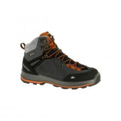 Buty trekkingowe wysokie TREK 100 męskie. Szare buty trekkingowe męskie FORCLAZ, z poliesteru, trekkingowe. Za 249,99 zł.